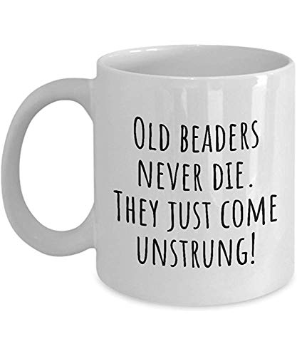 Lustige Kaffeetasse personalisierte Tassen 11 Unzen Print Mug Freund Geburtstag Familie Geschenk-Old Beaders nie sterben