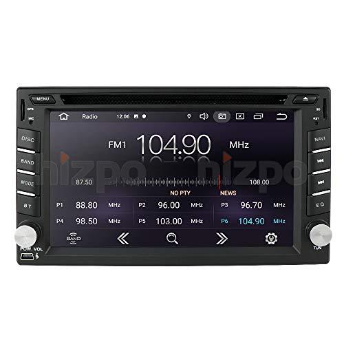 Android 10 Quad Core 6.2 Pollici 2 Din Lettore DVD Navigatore GPS Universale Stereo Automatico 178 Mm * 102 Mm RAM 1 GB ROM 16 GB Radio Bluetooth 4.0 USB SD Play Store WIFI SWC Pulsanti Multicolore