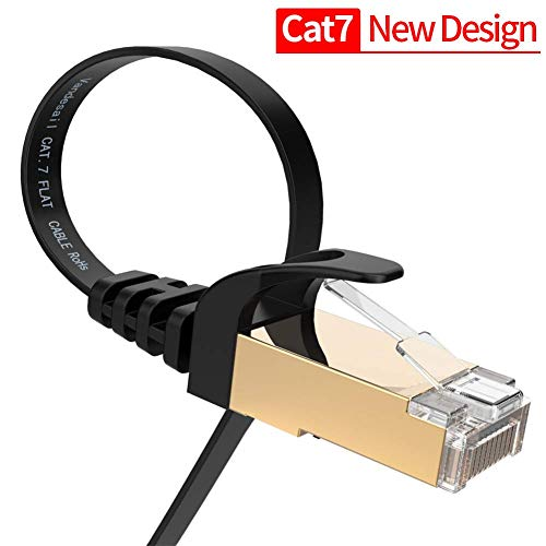 Cable Ethernet, VANDESAIL CAT7 cable de red de alta velocidad RJ45 LAN Patch Cable STP 2 unidades