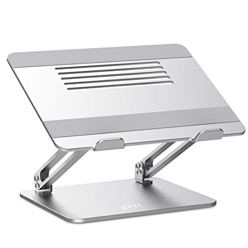 Great Deal! Adjustable Laptop Stand, EPN Laptop Riser with Heat-Vent to Elevate Laptop, Aluminum Not...