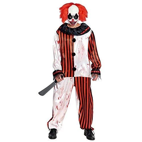 H HANSEL HOME Disfraz Payaso de Rayas Sangre Adulto - Hombre - Incluye Mono Cosplay/Carnaval/Halloween Size S