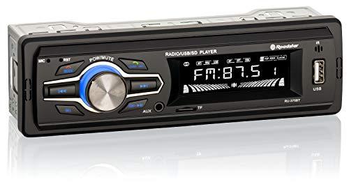 Roadstar RU-375BT Autoradio mit Bluetooth (Radio, Freisprech-Funktion, Fernbedienung, USB, TF Card, AUX In, Line Out, ISO Stecker), schwarz