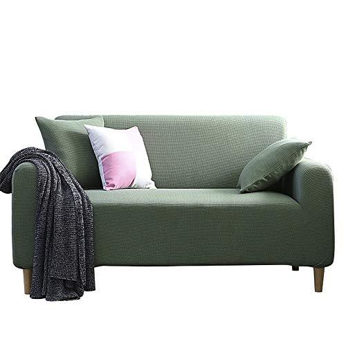 UMOOIN Stretch-für dreisitzer sofabezug Gestrick elastischen Couch Sitz Slipcover für 1/2/3/4 Sitzer,Green,4seater:235cm~300cm