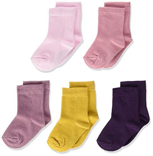Minymo 5er Pack Socken In Verschieden Farben Calcetines, Multicolor (Shadow Purple 664), 15-18 (Talla del fabricante: 158) para Bebés