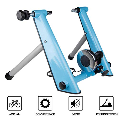 Magnetic Bike Trainer Stand w/Wire Controle Richter, Noise Reduction, Quick-release & vouwfiets Oefening Stand voor Mountain & Racefietsen