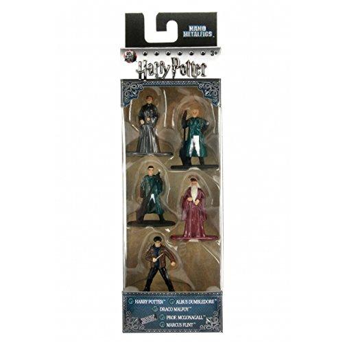 Harry Potter 5er Pack - Nano Metalfigs 4cm Sammelfigur 98667 detailgetreue Gestaltung, aus hochwertigem Diecast-Metall, kleine Figur perfekt für jeden Sammler