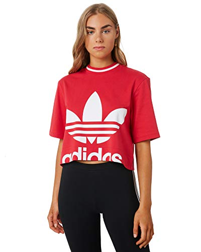 adidas Cropped Tee, T-Shirts Donna, Energy Pink F17, 44