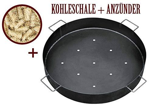 Steinfiguren Giessen Bellissa KOHLENSCHALE Kohleschale für Feuer- und Grillstelle + 20 Grill ANZÜNDER von Dekowelt