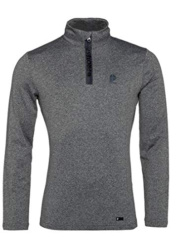 Protest Heren Thermo Ondergoed WILLOWY 1/4 Zip Top Dark Grey Melee L