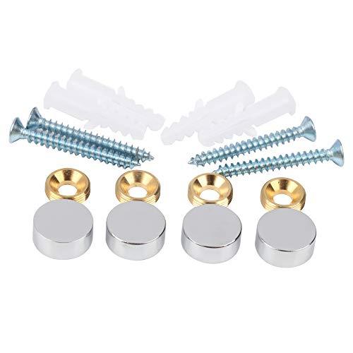 Mirror Screws,Brass Cap Decorative Mirror Nails,0.6