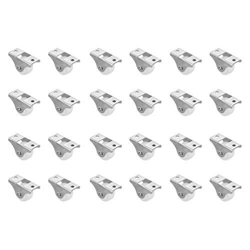 Angoily 24 Piezas de Cajones Ruedas Giratorias de Hierro DIY Muebles Cajón Silencioso Rueda Giratoria Duradera Ruedas de Corredores para Muebles de Oficina en Casa 1 Pulgada