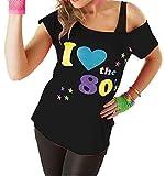 Classy Fashion Femmes J'aime Les années 80 T-Shirt Top Mesdames J'aime Les années...