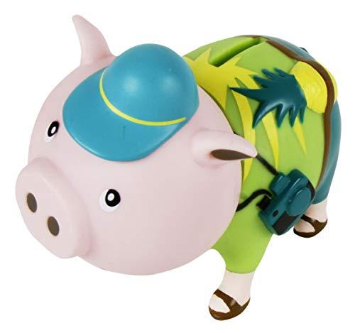 MIK Funshopping Spardose Sparschwein - Ideal zum Sparen oder als Geldgeschenk-Verpackung (Urlauber Tourist)