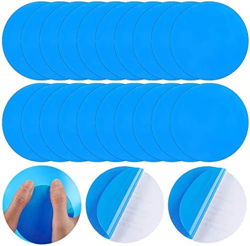 20 Pieces Round Self Adhesive PVC Repair Patches Vinyl Pool Liner Patch Boat Repair Vinyl Rubbers product image