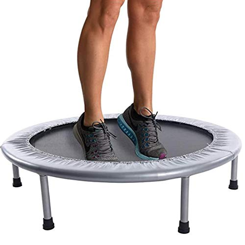 LISYS Folding trampoline with steel wire spring and 1.5mm steel tube for indoor and outdoor entertainment and fitness, 40 inches, 290 pounds weighing