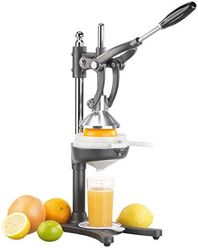 Rosenstein & Söhne Orangenpresse: Profi-XXL-Zitruspresse aus Stahl mit starker Hebel-Wirkung, Nylon-Sieb (Granatapfelpresse)