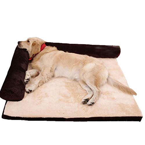 Serrale Pet Bed Large Memory Foam Dog Sofa Mattress Bed Hair 90 x 75 CM Suitable for Large Dogs, High Elastic can be Removed and Washed-01