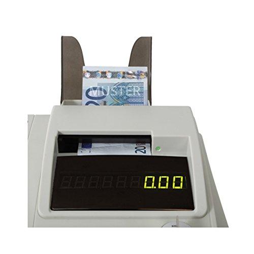 Olympia 947990003 bankbiljetten tester voor Euro testtijd, lichtgrijs-antraciet
