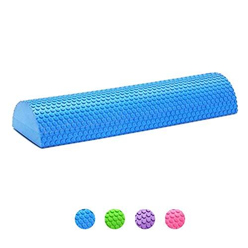 KuaiKeSport Foam Roller Semicirculo,Rodillo de Espuma para Terapia de Masaje Roller Foam para Muscular Yoga para Músculos Tensos Dolorosos Rodillo para Equipo de Entrenamiento de Equilibrio,Blue,90cm
