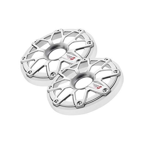 CERWIN Vega 6.5″ Speaker Cover - 6.5-Inch Marine and Motorcycle Plastic Universal Speaker Grill Cover, Cover and Protect Speakers Flush Mount Speaker Grill (Pair) – White