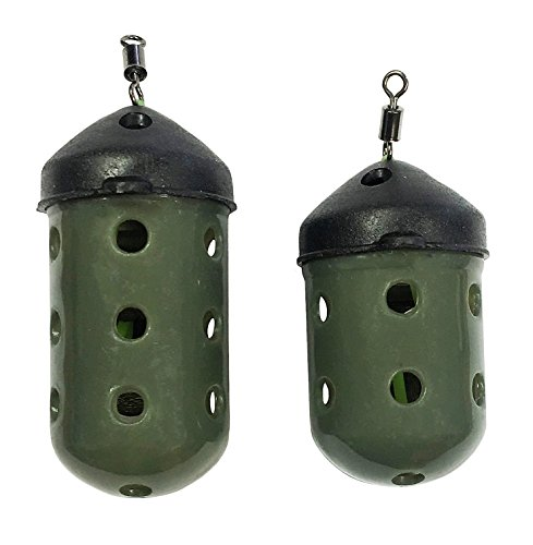 FLADEN Fishing Set of 2 MAGGOT FEEDERS 2 Different Weights 20g and 30g Designed for Fishing with Maggots and Casters Features Easy Dispersal Holes 37 296452