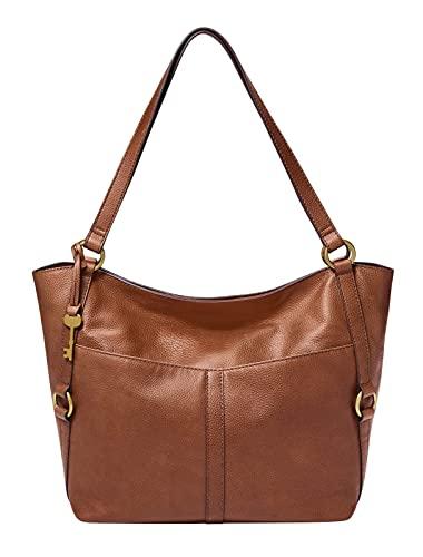 Fossil - Sam Tote Bag de Cuero Marrón por Mujer ZB1464200
