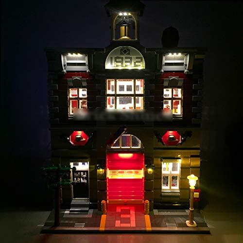 TETAKE Beleuchtung LED Licht Set Original für Lego Feuerwache Creator 10197 (Nicht Enthalten Lego Modell)