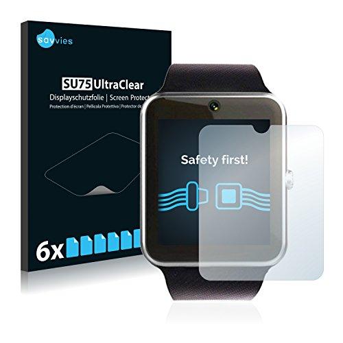 Savvies 6X Schutzfolie kompatibel mit Luluking YG8 Displayschutz-Folie Ultra-transparent
