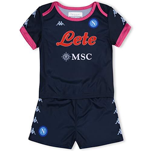 SSC Napoli Kit Gara Baby Third 2020/21 Unisex Niños, Azul Oscuro - Rosa, 12M