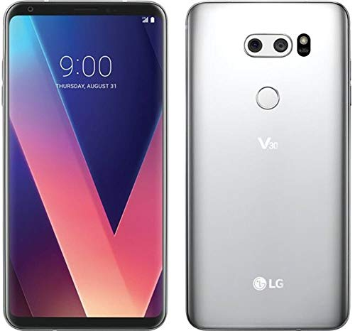 LG - V30 64GB - Cloud Silver (Verizon) (Renewed)