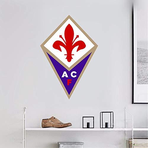 adesivo murale 3d ACF Fiorentina Italia Home Decor Sport Soccer Team Logo Sign