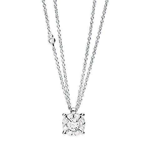 Salvini Haus Damiani, Kollektion Daphne Precious, Collier in Gold Weiß 18kt. mit Diamanten (CT. 0,66) Ref. 20049674