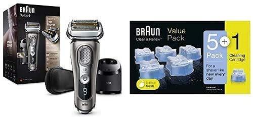 Braun Series 9 9385cc Afeitadora Eléctrica Hombre con Estación Limpieza y Carga...