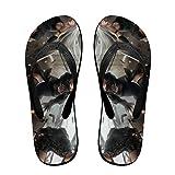 Nier Automata - Zapatillas de anime, sandalias de playa, para mujeres, hombres, actividades diarias en interiores y exteriores, color Negro, talla Small/Medium