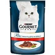 Purina Gourmet Perle Wet Cat Food, Mini Fillets in Gravy - Pack of 4