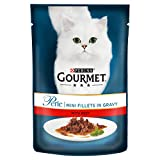 Purina Gourmet Perle Wet Cat Food Mini Fillets in Gravy Mini Fillets, 85 g x 24