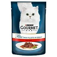 Purina Gourmet Perle Wet Cat Food Mini Fillets in Gravy Mini Fillets, 85 g x 24