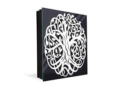 Concept Crystal Caja Decorativa para Llaves con imágenes a Elegir K11 Arbol Celta de la Vida