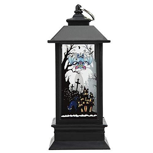 Kadimendium Lámpara Colgante, Conveniente para Colgar Lámpara de Halloween con Pilas para Decoraciones navideñas(Small Witch New)