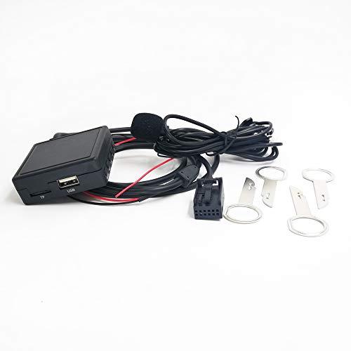 Adaptador Bluetooth AUX con micrófono USB para Ford Focus Mondeo 6000CD