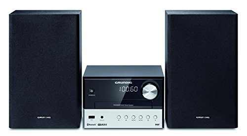 Grundig cms 1050 Dab+ BT Compact Micro System (Lecture Bluetooth, CD-MP3, Port USB) Noir/Argent