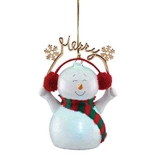 Lenox Light-Up Snowman Wonderball Ornament, 0.40 LB, Multi