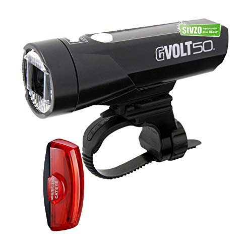 Fahrrad-Beleuchtungskit Cateye GVolt 50, mit STVO Zulassung, (Cateye GVolt 50, Rücklicht Rapid X2G Kinetic)