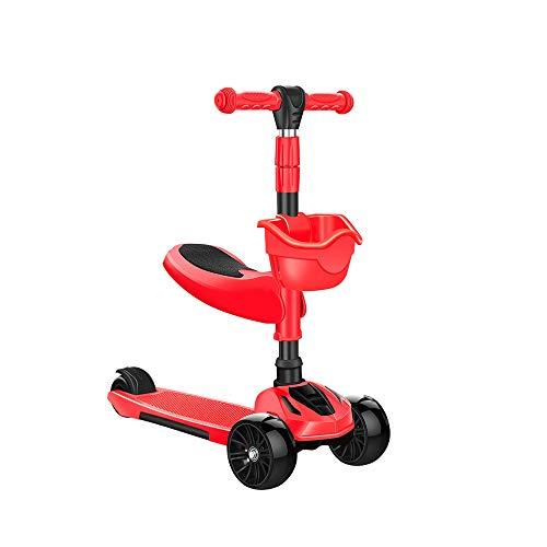 LRHD Los corredores escarpadas kick scooter for niños y niñas de 3 ruedas Scooter, kick scooter for niños con ruedas de la PU, Paso de frenos, Lean 2 Encienda, Paseo en juguetes for niños de 3 años Pl