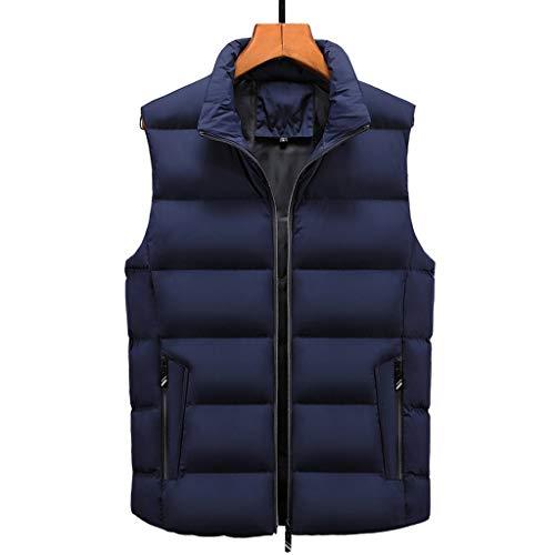 Why Choose Men's Vest Winter,Males Zipper Pockets Solid Coat Warm Sleeveless Plus Size Outwear Down ...