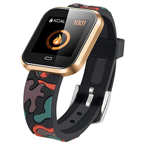 CD16 Smart Horloge Android Met Bloeddruk Hartslagmeter Stappenteller Stopwatch Sports Smartwatch Mannen Clock,Gold