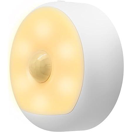 Yeelight Motion Sensor Night Light,Rechargable LED Night Light with Smart Dusk to Dawn Sensor,Auto On & Off,Smart Nightlight for Bedroom,Kitchen,Toilet,Stairs,Cabinet,Hallway,2700K Warm White