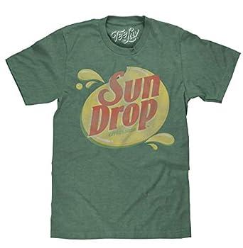 Tee Luv Sun Drop T-Shirt - Distressed Sundrop Citrus Soda Shirt  Forest Green Heather   M