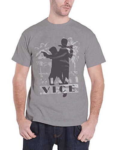 Officially Licensed Merchandise Miami Vice Silhuettes T-Shirt (H.Grey), XX-Large