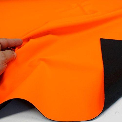 TOLKO Outdoor Softshell-Stoff | Wasserdicht Elastisch Atmungsaktiv | Allwetterstoff für Jacke Hose | 145cm breit Meterware (Neon Orange)